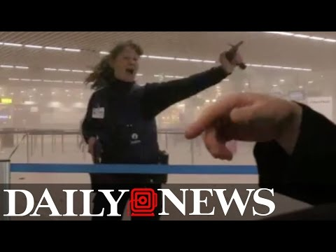 Raw: Video captures moments after Brussels bombing