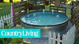 Stock Tank Pools Are Going to Be All the Rage This Summer | Country Living