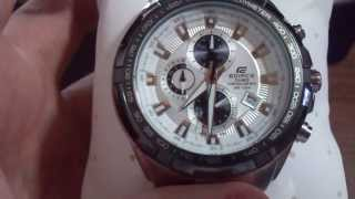 mens stainless steel round dial wrist watch with date weekday white dial