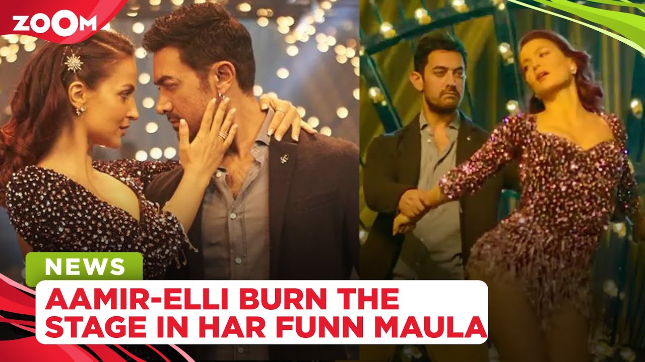 Aamir Khan sets the stage on fire in yet another quirky song, Har Funn Maula starring Elli AvrRam