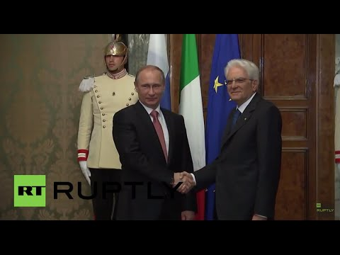 Italy: Putin meets President Mattarella for Rome talks