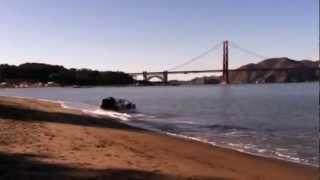 DeLorean Hovercraft goes for a spin