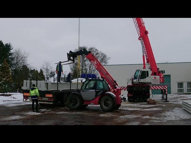 Neubau Hochregallager Bautagebuch #1: Anlieferung der Stahlträger