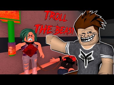 TROLLING THE BEAST! -- ROBLOX Flee The Facility