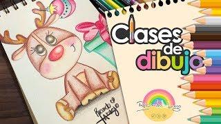 Dibuja un tierno RENO NAVIDEÑO | Clases de dibujo con Ricardo