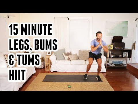 15 Minute Legs, Bums & Tums HIIT Workout | The Body Coach