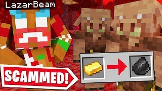 So LAZARBEAM & I Got SCAMMED In The Nether.. (Nether Escape Part 2)