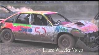 "Columbia Couinty Fair Demo Derby-"" Loud and Fun""- Lance Wheeler Video"