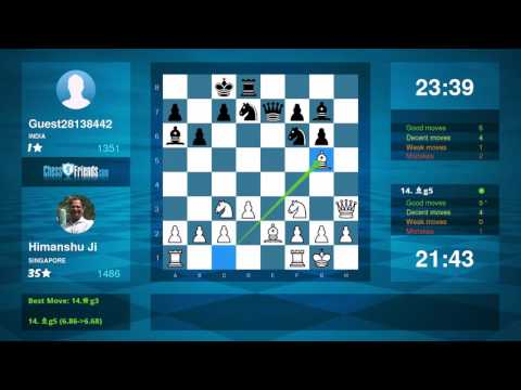 Chess Game Analysis: Himanshu Ji - Guest28138442 : 1-0 (By ChessFriends.com)