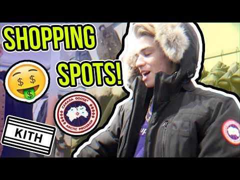 SHOPPING AT COOL PLACES IN NYC!! (KITH, GUCCI, JEWELRY, FOOD)