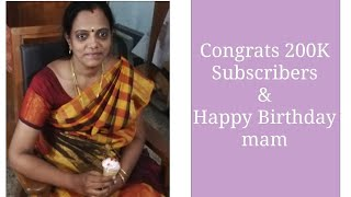 Happy birthday to Hema's Kitchen. Vaazhtukal 200000 Subscribers!!