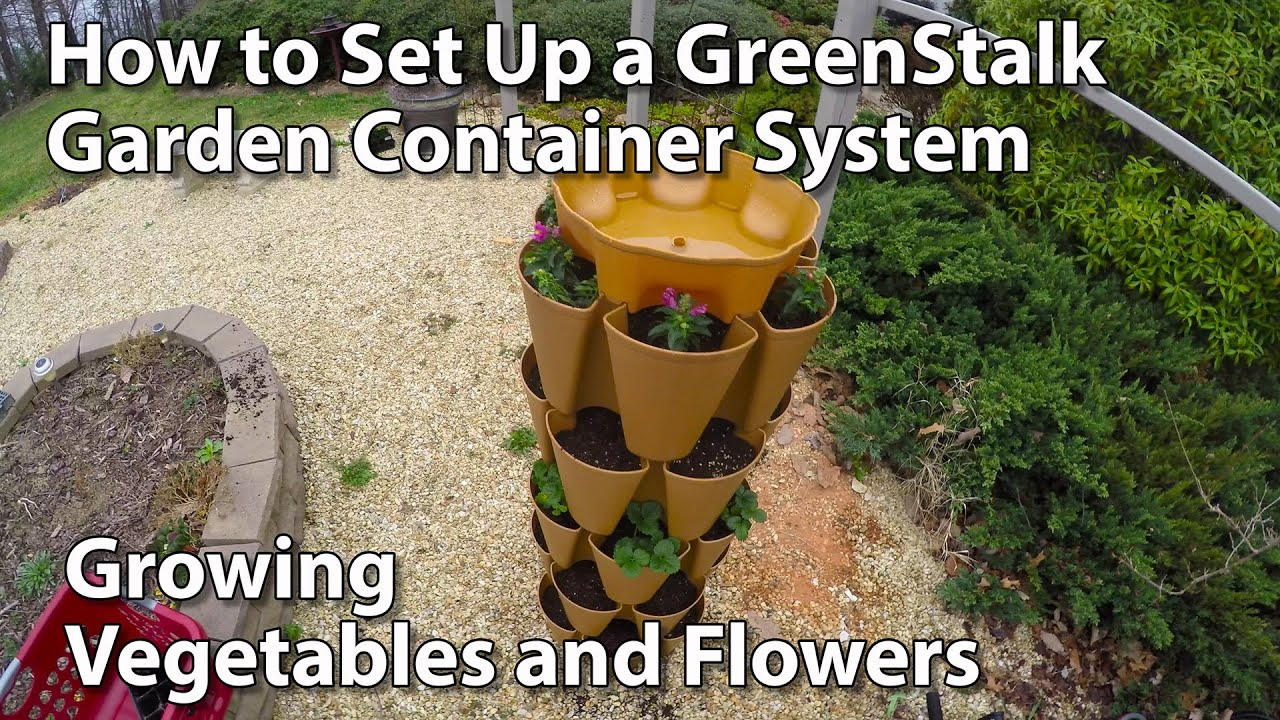 GreenStalk Stackable Garden   How To Setup And Plant   YouTube