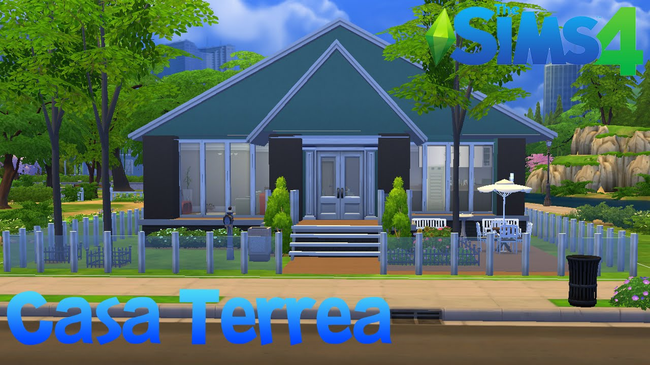 The sims 4 construindo uma casa t rrea youtube for Casas modernas the sims 4