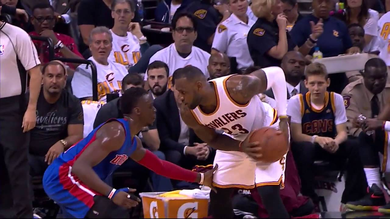 3124f5f98d0 Lebron James Offensive Foul  - YouTube