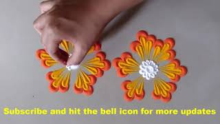 Attractive and Easy Rangoli Design for everyday || Daily Rangoli ||