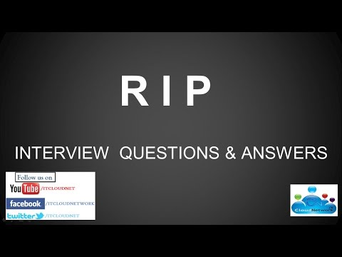 R I P (Routing Information Protocol) Interview Questions and Answers for Both Fresher & Experience