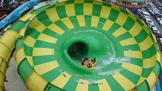 Wipe Out Water Slide At California Beach