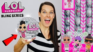 LOL SURPRISE BLING SERIES DOLLS!! Part 4: FULL CASE UNBOXING! NEW L.O.L SURPRISE HOLIDAY SERIES 4!
