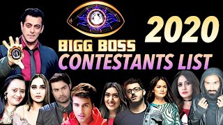 BIGG BOSS 2020 | BIGG BOSS 14 | TOP 25 CONTESTANTS LIST | Bigg Boss 14 Contestants List || NEWEST
