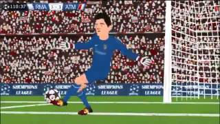 Real Madrid 4-1 Atletico Madrid Champions League Final 24/5/14 Parodia