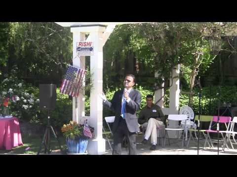 Rishi Saratoga Council campaign launch speech - May 10 2014