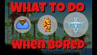 8 Fun Things  To Do In Terraria When Your Bored 😐| Builds, Armory, farms, and more