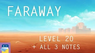 Faraway: Puzzle Escape: Level 20 Walkthrough + All 3 Letters / Notes (by Mousecity & Pine Studio)