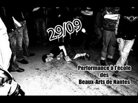 29/09 : performance à l'école des Beaux-Arts de Nantes