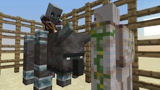 Illager Beast Patrol VS. Iron Golem // Minecraft 1.14 Experiment