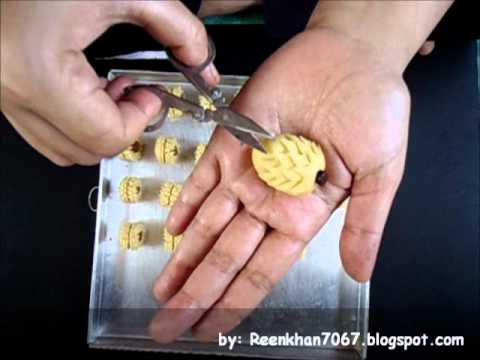 How To Deko Pineapple Tart by: ReenKhan