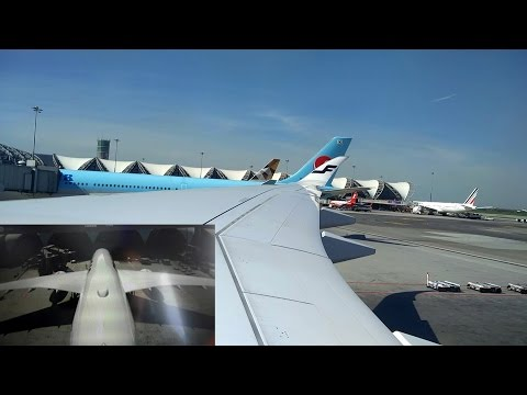 A350 Airbus Dual Camera Departure from Bangkok to Helsinki