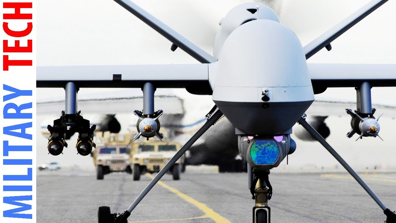 Us Air Force Drone Mq 1 Predator In Action Youtube
