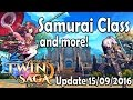 Samurai Class, New Promotions and more! | Twin Saga PS Update 15/09/2016