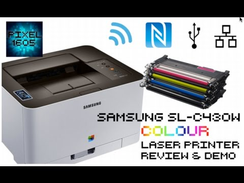 wireless samsung c430w colour laser printer unboxing full setup