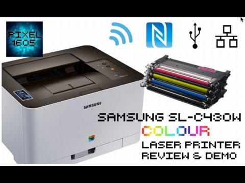 WIRELESS Samsung C430W COLOUR Laser Printer Unboxing, Full setup