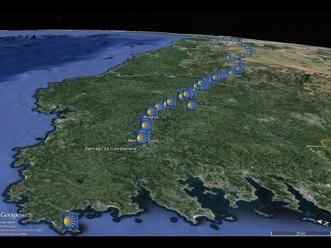 Camino De Santiago; Animated Google Earth Map Of The Camino Frances, The French Way