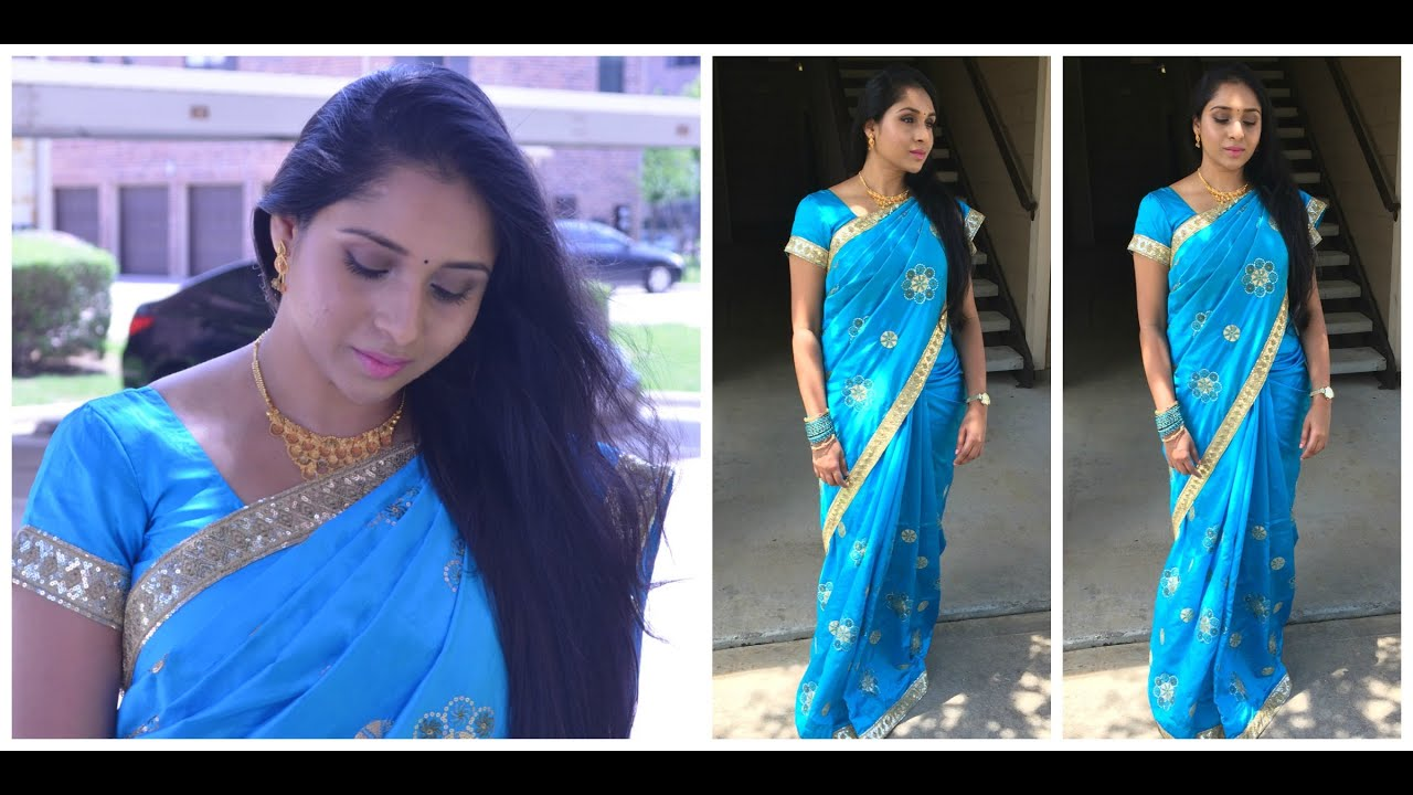 Get Ready With Me Indian Party Makeup U0026 Saree Outfit - YouTube