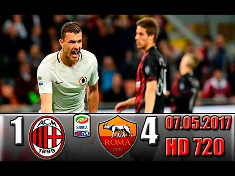 Italy: serie a ac milan 1-4 as roma all goals !!!