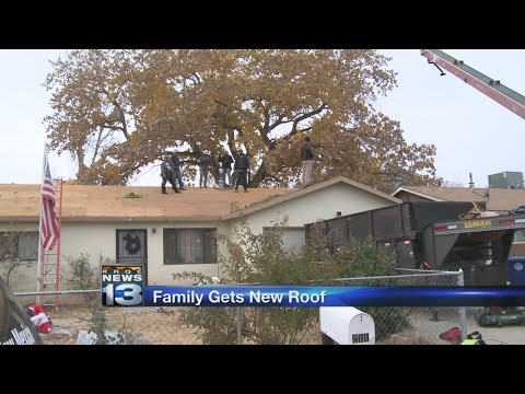 Albuquerque military family gifted new roof