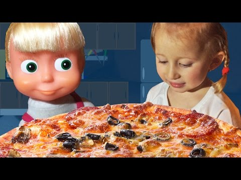 Maša i Sonja prave PICU! Video za decu Sonjine Avanture / Masha and The Bear PIZZA Маша и Медведь
