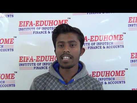 EIFA-EDUHOME  (Ludhiana) Student Give Testimonial After Learning Tally Accounts