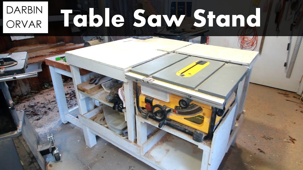 How I Built My Table Saw Stand Chisel Sharpening Shop Update