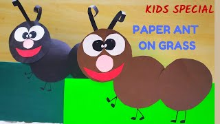 PAPER ANT CRAFT || ANT PUPPETS || HOW TO MAKE PAPER ANT || PAPER GRASS || SUMMER ACTIVITY FOR KIDS..