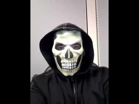 the paper skull mask halloween