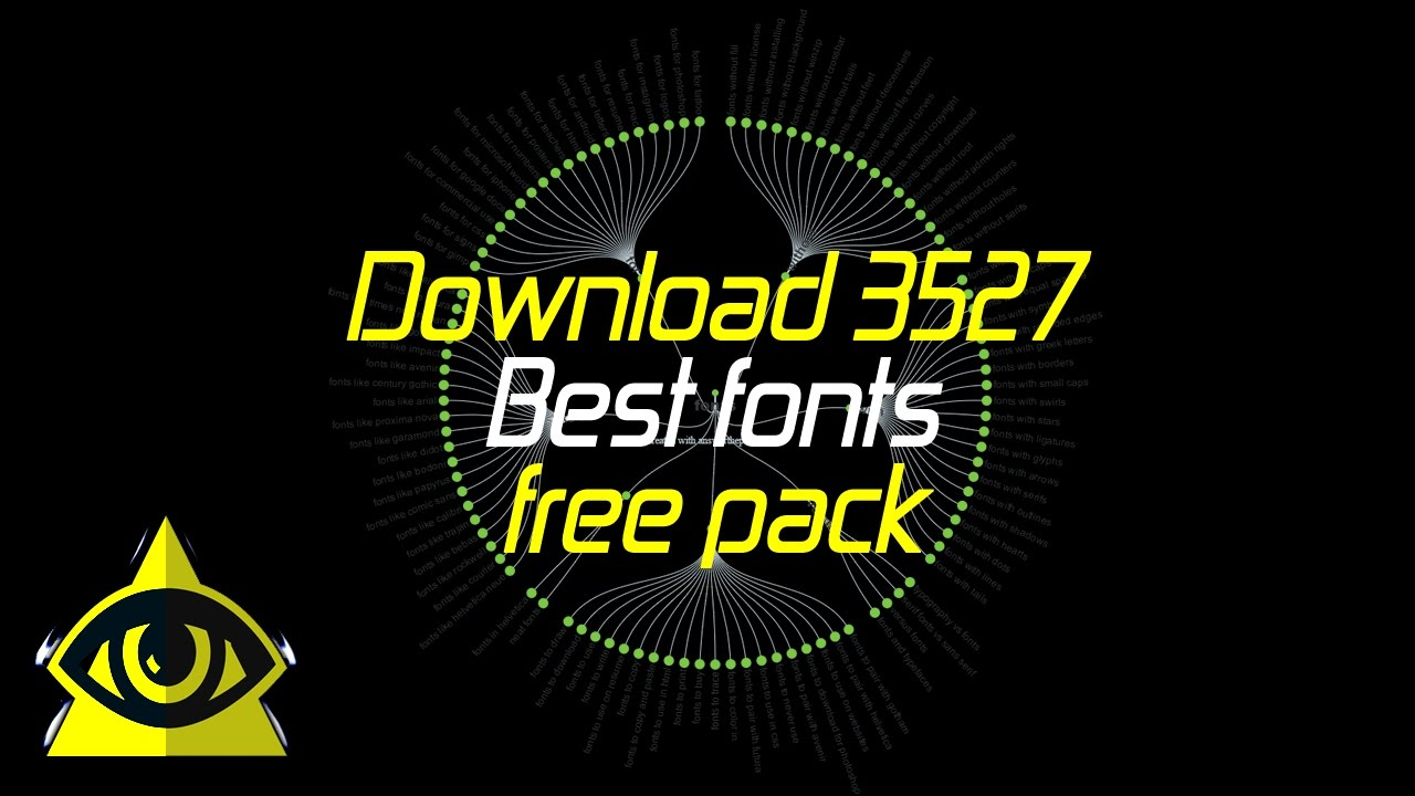 Download Download 3527 Best fonts free pack - YouTube