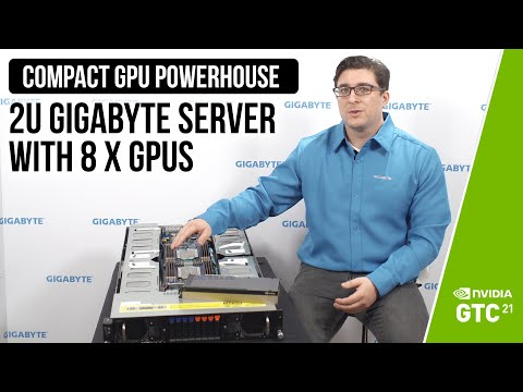 Compact GPU Powerhouse: 2U GIGABYTE Server with 8 x GPUs