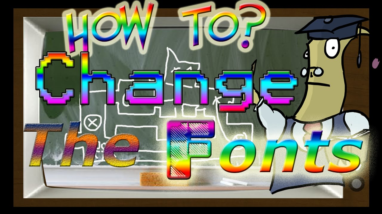 How to change the fonts in CS:GO