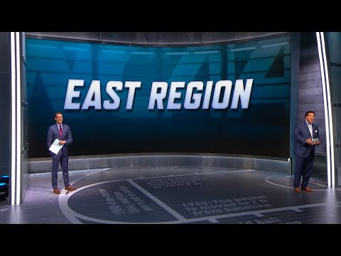 Seth Davis and Greg Gumbel announce the East Region of the NCAA tournament