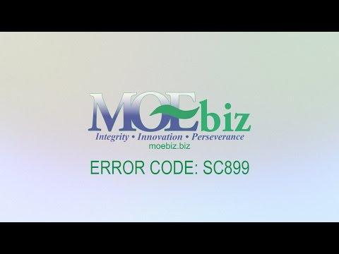 MoeBiz Self Help - Error Code SC899
