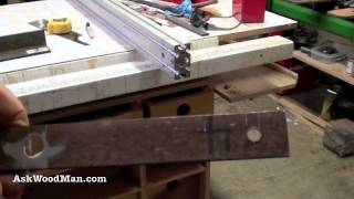 5 Of 9: How To Build A T-square Table Saw Fence | Woodworking Project